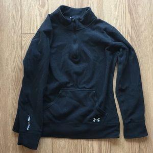 Black under armor fleece quarter zip